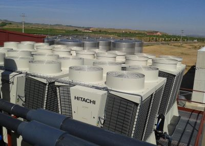 Frio industrial en bodega cooperativa de Aldeanueva de Ebro